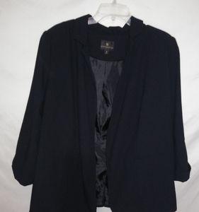 Worthington Black Lined Open Blazer 1X Plus